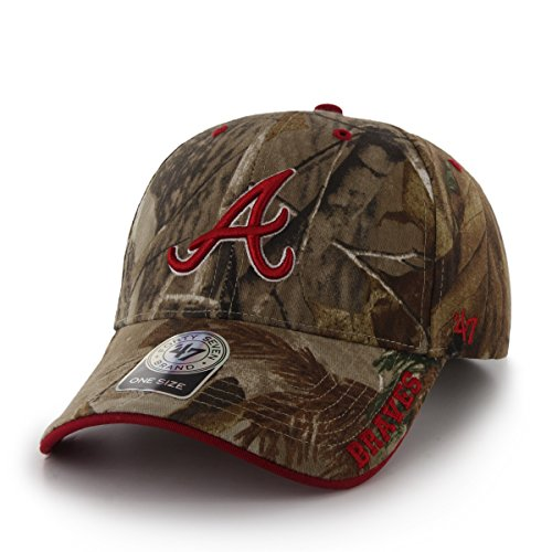 MLB Atlanta Braves '47 Frost MVP Camo Adjustable Hat, One Size Fits Most, Realtree (Realtree Camo Adjustable Hat)