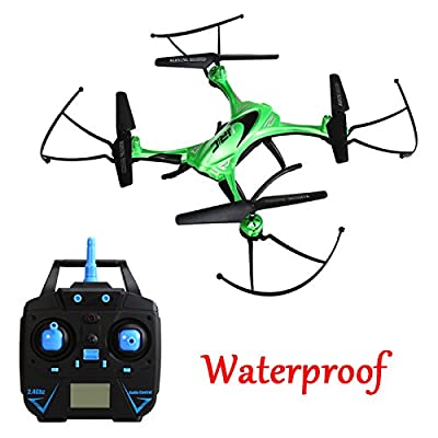 Qsmily Waterproof Drone JJRC H31 2.4G 4CH 6-Axis Gyro Resistance To Fall RC Quadcopter With Headless Mode 360° Rolling One Key Return (No Camera) - Green