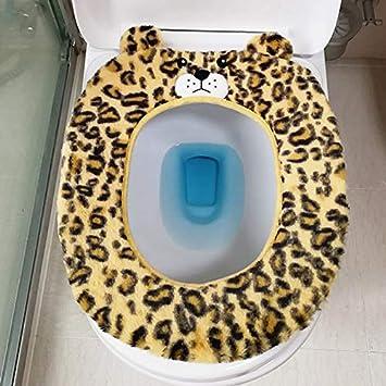 H-Y-HOME Alfombras De Baño De Felpa del Hogar Toallas De Baño Generales. Estampado De Leopardo Amarillo Claro: Amazon.es: Hogar