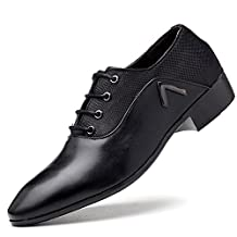 OURDREAM Men's Classic Modern Breathable Lace-up Leather Oxford Dress Shoes