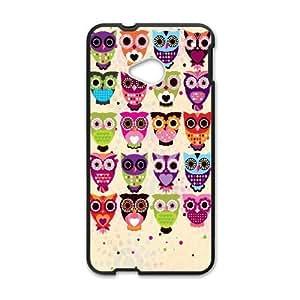 HTC One M7 Phone Cases Black Vintage Owl On Tree FJo896944