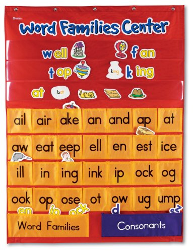 Learning Charts Classroom Material - Learning Resources Word Families Center Pocket Chart