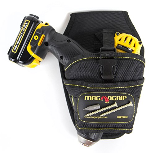 MagnoGrip 002-580 Magnetic Drill Holster - Left and Right Handed, Black