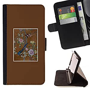 Jordan Colourful Shop - bird floral art painting vintage For Samsung Galaxy Core Prime - Leather Case Absorci???¡¯???€????€???????&bd