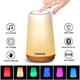 Touch Table Lamp, Kainuoa Upgrade Touch Bedside Lamp with Bluetooth Speaker, Dimmable Warm White Light &Color Changing RGB, Perfect as Illumination Night Light and LED Music Mood Light-Best Gifts Idea