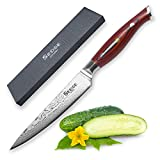 "Sedge Japanese 67 Layers VG10 Damascus Stainless Steel Utility Knife 5"" - SD Series - G10 Handle"