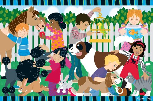 Melissa & Doug Backyard Pets Floor Puzzle ()
