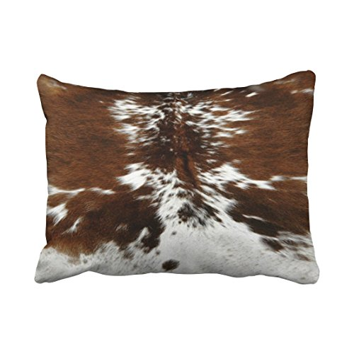 Tarolo Decorative Decorative Tri Color Brown Cowhide Print Throw Pillow Covers Size 20x26 inches(51x66cm) One (Tiger Butterfly Tattoo)