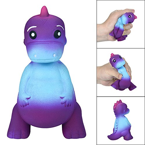 -  Dolls Clearance , Galaxy Dinosaur Rex Squishies Jumbo Scented Cream Super Slow Rising Squeeze Toys by Little Story