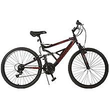 ORKAN Reinforced Mountain Bike 26'' Men+ Women Hybrid Bike MTB 18 Speed Full Suspension Shimano