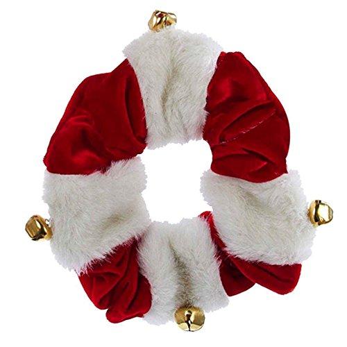 Bells Adler (Christmas Dog Collar Red White w Bells C4616-SM Small by Kurt Adler)