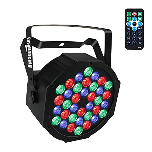 Stage Lighting Par Light 36x1W LED RGB 7 Channel with Remote for DJ KTV Disco Party Bar (1 PC) ()