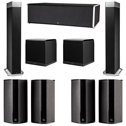 Definitive Technology 72 System With 2 BP9080X Tower Speakers 1 CS9080 Center Channel Speaker 4 SR9080 Surround