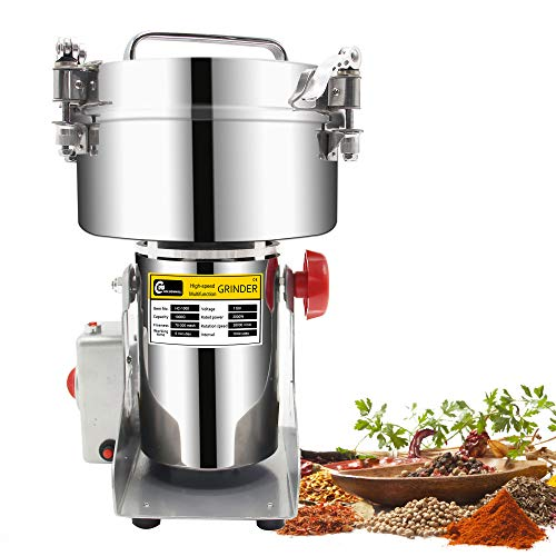 1000g Stainless Steel Electric Grain Grinder Mill For Grinding Various Grains Spice Grain Mill Herb Grinder,Pulverizer Powder Machine 110v Gift for mom, wife