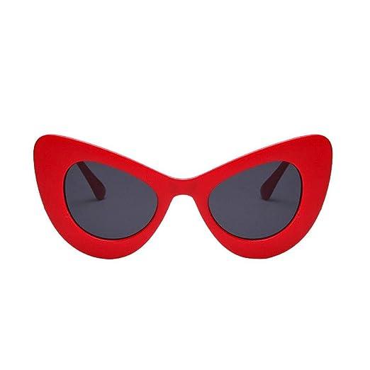 de8a46d906 Creazrise WomenCat Eye Retro Polaroid Sunglasses Oversized Thick Frame  Sunglasses (B) at Amazon Women s Clothing store