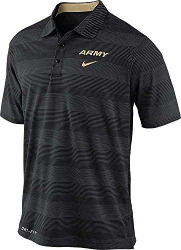 Nike Army Black Knights Men's Preseason Striped Dri-FIT Polo Shirt (Medium, Anthracite)
