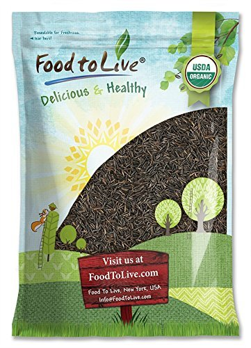 - Organic Wild Rice - Raw, Long Black Whole Grain, Non-GMO, Kosher, Bulk (by Food to Live) - 5 Pounds