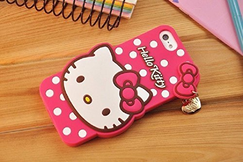 e151f4af4709 Amazon.com  Bling Sweet Cases® 3D Lovely Cartoon Hot Pink Hello ...