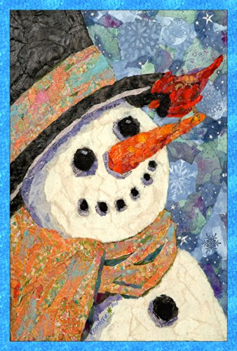 Toland Home Garden Snowman and Cardinal 12.5 x 18 Inch Decorative Winter Snow Bird Garden Flag - 119700
