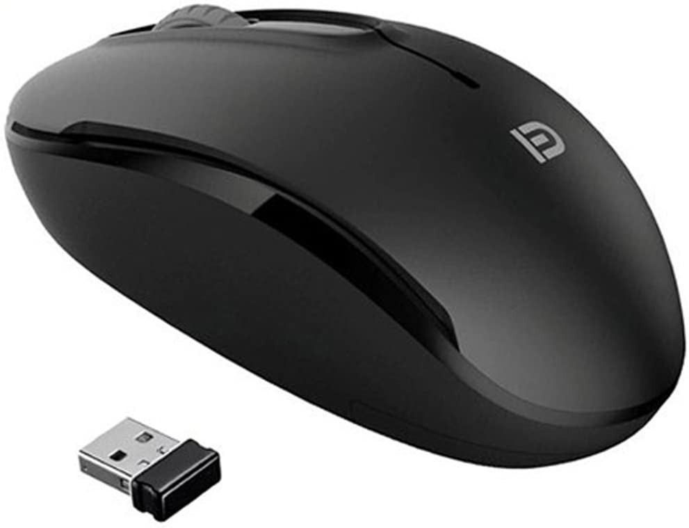 MiraCase Comfortable 2.4 GHz Long Range Wireless Mouse | 1600 DPI | 15M Working Distance | Battery Included | Black