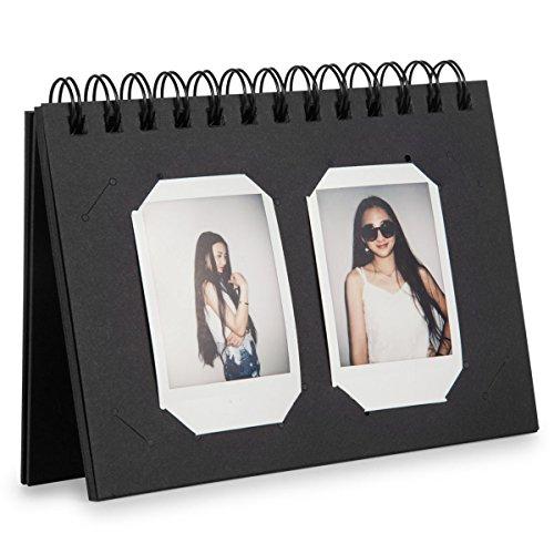 Polaroid Square - CAIUL Compatible Mini Book Album for Fujifilm Instax Mini 8 8+ 9 70 7s 25 26 50s 90 Film, Instax Square SQ10 SQ6 Film (Black, 40 Photos)