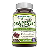 Cheap Pure Naturals Grapeseed Extract 400 mg Capsules, 120 Count