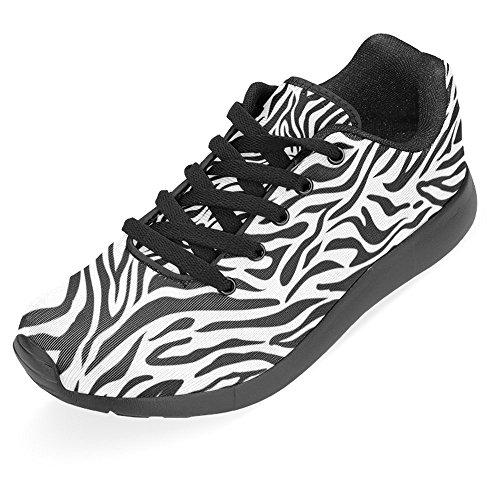 Interestprint Kvinner Jogging Kjører Sneaker Lettvekts Gå Lett Gå Uformell Komfort Sports Joggesko Sebra Striper Svart Hvit Multi 1