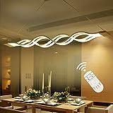 Modern LED Lighting Pendant Light Hanging Lights Fixture Dimmable 3000-6000 kelvin Wave Lights for Living Room,Dining Room,Bedroom, Restaura
