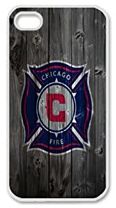 Chicago Fire wood background iPhone 4 4s Case, custom iPhone 4 4s case, pc white iPhone 4 4s case