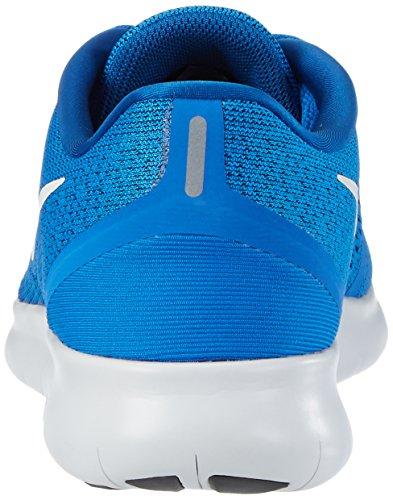 Nike Gratis Rn Stijgen / Zuiver Platina / Blauwe Gloed / Team Royal Loopschoenen