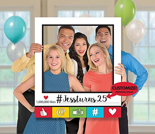 Amscan 399124 Party Supplies Selfie Booth Giant Photo Frame, One Size, Multicolor -