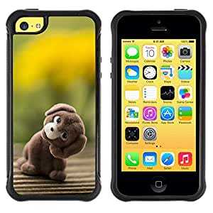 "Pulsar iFace Series Tpu silicona Carcasa Funda Case para Apple iPhone 5C , Arte relleno del perro de animal del oso de peluche de juguete"""