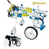 HiHydro Pet Wheelchair, Four Wheels Adjustable