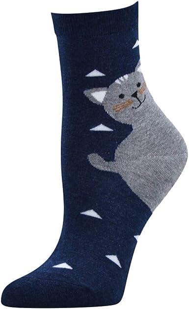 Sylar 5 Pares Calcetines Algodón De Mujer Con Estampados Gatos ...