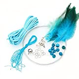 2 PCS DIY Dream Catcher Craft Kit Meaningful Christmas Gifts by Hand - Blue