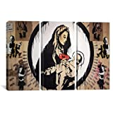 iCanvasART 2085 Madonna and Child 3-Piece Canvas Print by Banksy, 60 by 40-Inch, 1.5-Inch Deep