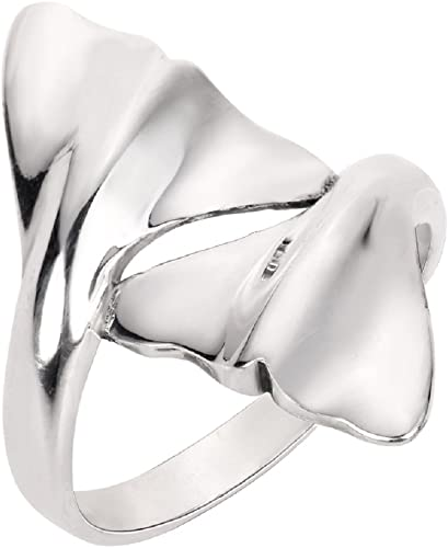 Splitting Open Clear CZ Fashion Ring New .925 Sterling Silver Band Sizes 4-10