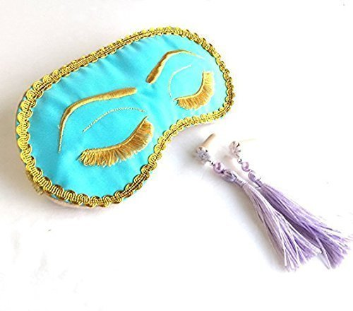 Handmade Breakfast at Tiffany's Eyelashes Sleep Mask Tassel Ear Plugs Set Bachelorette Party Mask.
