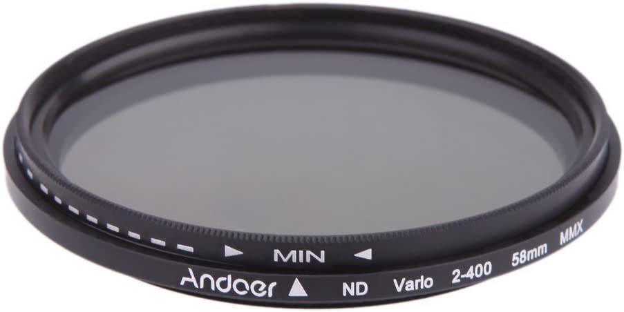 Andoer 58mm Nd Fader Neutral Density Adjustable Nd2 To Nd400 Variable Filter For Canon Nikon Dslr Camera Camera Photo Amazon Com