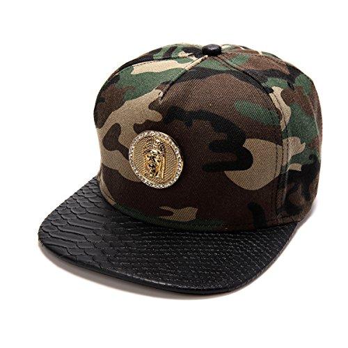 Haters Clothing Accessories Adjustable Jesus Christ Cotton Camo Snapback Cap Hater Hat for Men & Women (Michigan Scrub)
