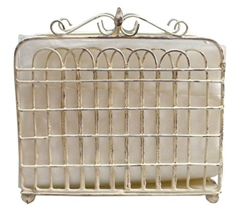 - Shabby Chic Garden Gate Metal Lunch Napkin Holder (Cream) by Park Designs
