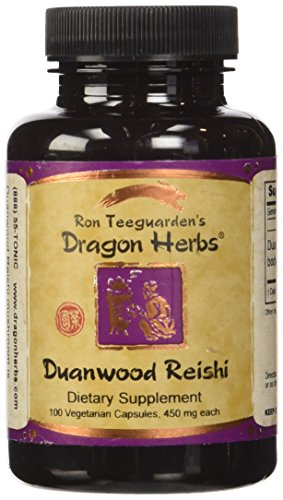 Dragon Herbs Duanwood Reishi -- 450 mg - 100 Vegetarian Capsules