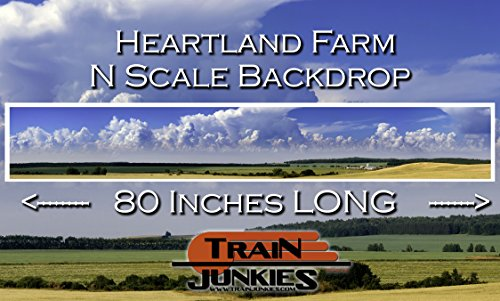 Train Junkies Heartland Farm - Railroad Backdrop N, used for sale  Delivered anywhere in USA