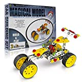 3 Bees & Me STEM Car Building Toy Kit - DIY Construction Educational Gift for Boys and Girls Age 8 9 10 11 Years Old - Kids Age 6 and 7 Can Do with Help - Unique and Fun