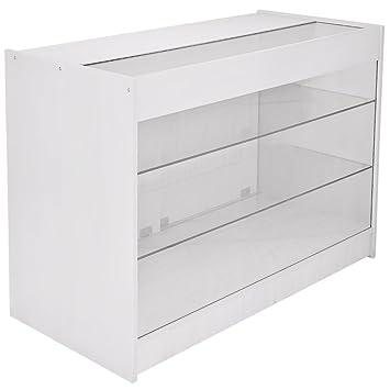 b454785ec53a3b MonsterShop K1200 Verkaufstisch Verkaufstheke Verkaufstresen Ladentheke  Ladentresen Tresen Theke Empfang Rezeption Ladenmöbel in Brilliant-Weiß