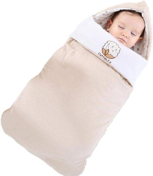 YIIVAN Saco de Dormir de algodón para bebé Edredón de bebé de otoño e Invierno sobre Suave y cálido para Cochecito recién Nacido, 0-3M: Amazon.es: Hogar