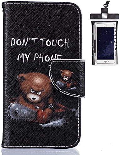 Samsung Galaxy A70 レザー ケース, 手帳型 サムスン ギャラクシー A70 本革 財布 携帯ケース 耐摩擦 ビジネス カバー収納 無料付スマホ防水ポーチIPX8 Elegant