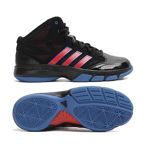 Adidas Cross Em 2 Svart / Röd / Blå Mens Basketskor Svart / Röd / Blå