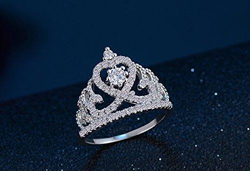 Bellystar Women Jewelry Crown Aaa Zircon Handmade Inlaid CZ 925 Sterling Silver Wedding Band Ring