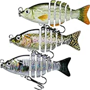 TRUSCEND Fishing Lures for Bass Trout Multi Jointed Swimbait Slow Sinking Bionic Swimming Lures Freshwater Sal